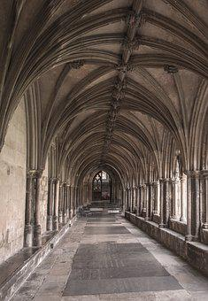 Norwich, Cathedral, Cloister, Architecture, Building