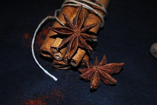 Cinnamon, Star Anise, Anise, Aroma, Spices, Sprockets