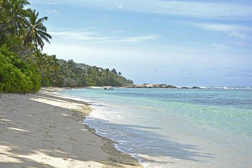 Seychelles, Praslin, Sand, Island, Beach, Paradise, Sea