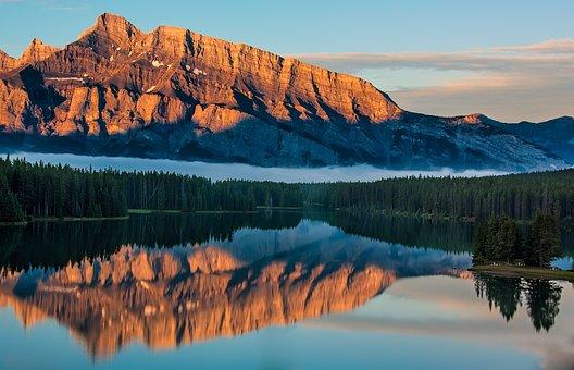 Banff, Beautiful, Beauty, Blue, Calm, Canada, Clouds