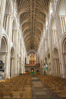 Norwich, Cathedral, Nave, Ship, Organ, Chairs, Blanket