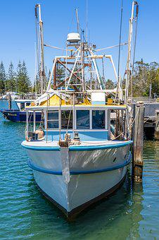 Boat, Harbor, Water, Harbour, Travel, Boats, Byron Bay