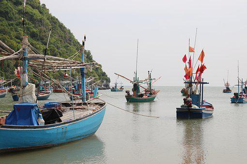 Thailand, Fishing, Boat, Sea, Water, Fisheries, Travel