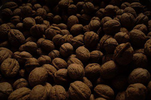 Walnut, Nuts, Walnuts, Dark, Brown, Harvest, Hard