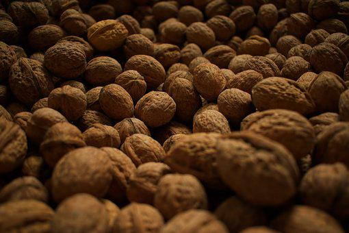 Walnut, Nuts, Walnuts, Brown, Harvest, Hard, Fruit Bowl
