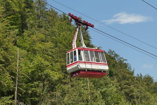 Cable Car Feuerkogel, Ebensee, Mountains, Salzkammergut