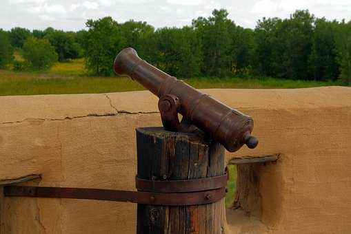 Swivel Gun At Bent's Old Fort, Cannon, Fort, Wall