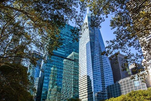 City, Building, Manhattan, Buildings, Trees