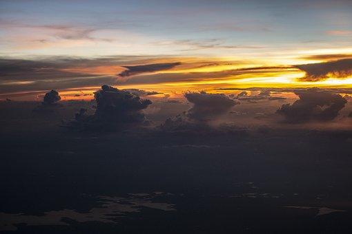 Clouds, Fluffy, Fluffity, Horizon, Sky, Panorama