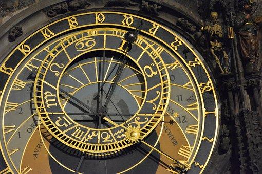 Prague, Clock, City, Czech, Astronomical, Antique, Time
