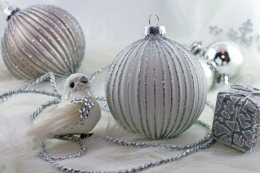 Christmas, Balls, Decoration, Christmas Time, White