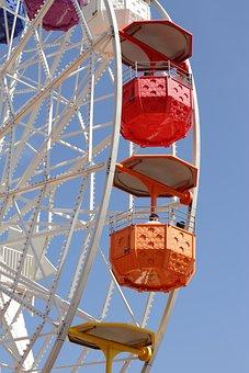 Sky, Wheel, Steel, Blue, Construction, Ferris Wheel