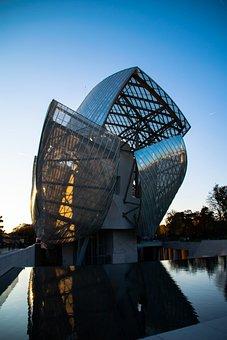 Foundation, Paris, Gehry, Architecture, Geometric