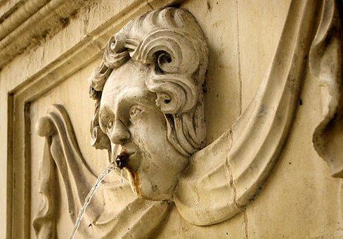 Gargoyle, Valletta, Fountain, Sand Stone, Sculpture
