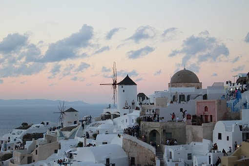 Oia, Santorini, Greece, Travel, Sea, Architecture