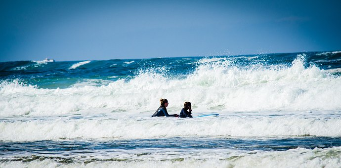 Family, Mother, Together, Surf, Lifestyle, Human, Child