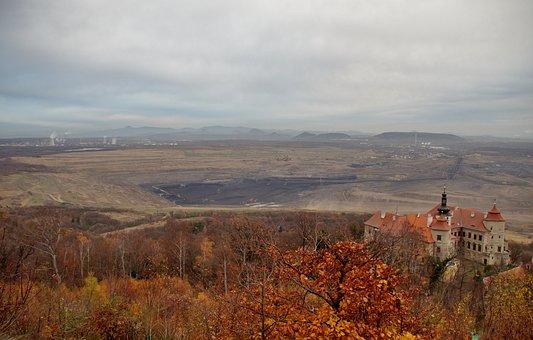 Castle, Jezeří, History, Building, Mining Activity