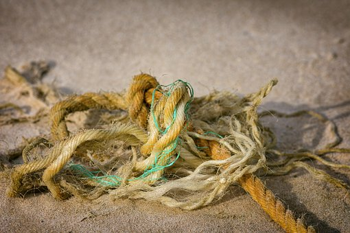 Knitting, Rope, Ship Rope, Garbage, Ship Accessories