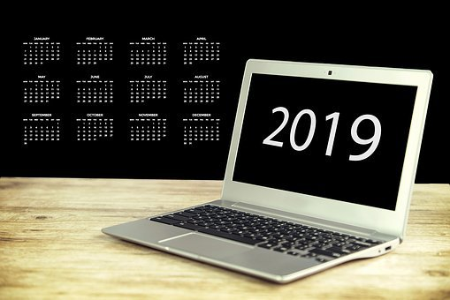 New Year's Day, Years Beginning, Laptop, Agenda, Screen