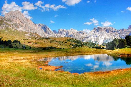 Lech Sand, Col Raiser, Bergsee, Alm, Nature, Sunlight