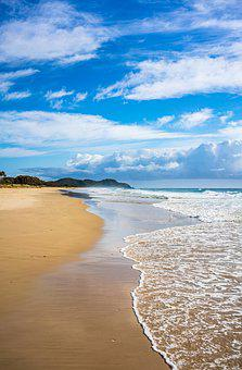 Beach, Byron Bay, Lighthouse, Cloud, Coastal