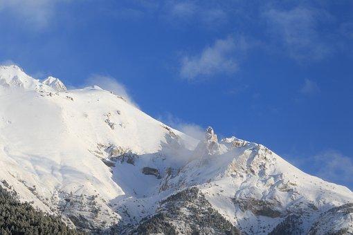 Mountain, Landscape, Winter, Snow, Nature, Mountains