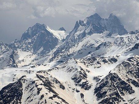 The Caucasus, Mountains, Top, Rocks, Spring, Sneznik