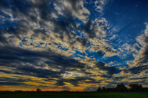 Landscape, Sunset, Nature, Scenic, Sky, Clouds, Horizon
