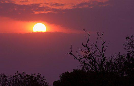 Sunset, Orange, Sky, Clouds, Nature, Light, Atmospheric