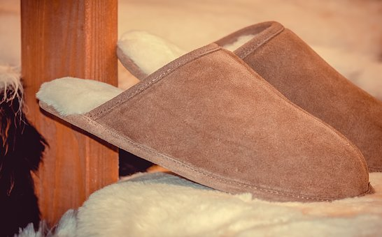 Slippers, Sheepskin, Pair, Shoes, Sheepskin Slippers