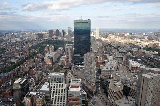 Boston, Panorama, Skyscraper, City, Cityscape, Skyline