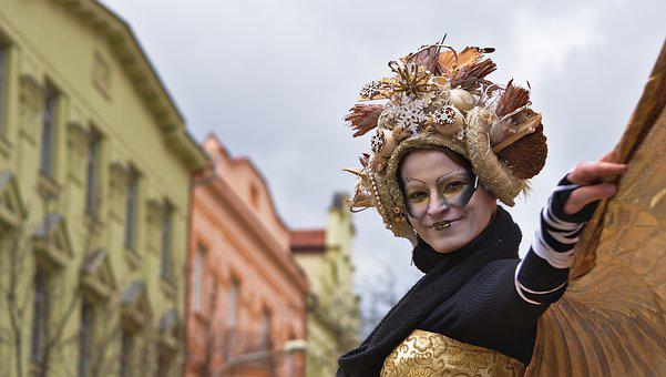 Masopust, Karlin, Prague, Mask, Parade, Czech Republic
