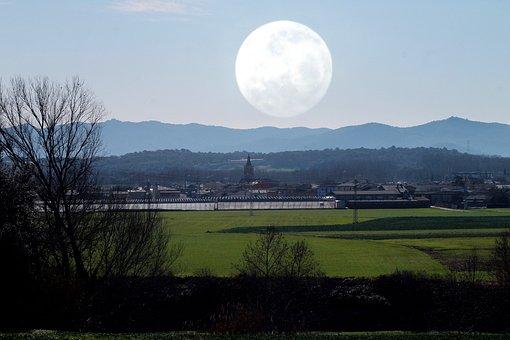 Moon, Reiki, Mindfullness, Field, People, Landscape