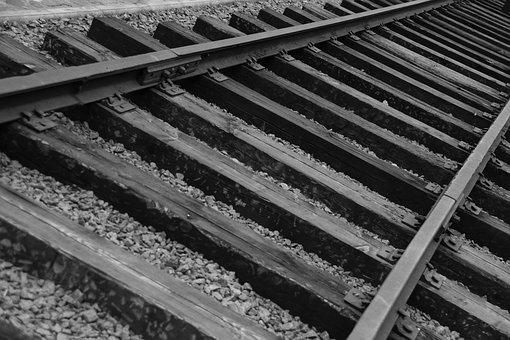 Black, White, Rail, Way, Road, Rails, Wooden