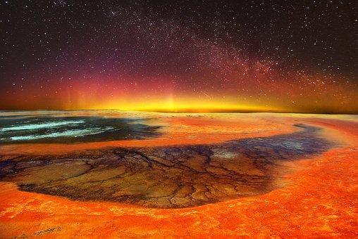 Volcanic Landscape, Milky Way, Idyllic, Stars, Sky