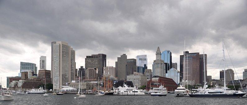 Boston, Skyline, Skyscraper, Cityscape, Building
