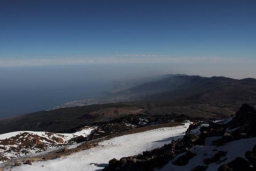 Teide, Volcano, Tenerife, Islands, Spain, Travel, Snow
