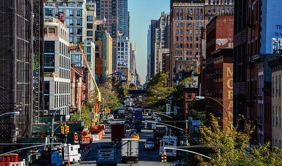 City, Street, Building, Traffic, Architecture, Modern