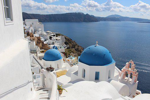Santorini, Greece, Travel, Sea, Architecture, Summer