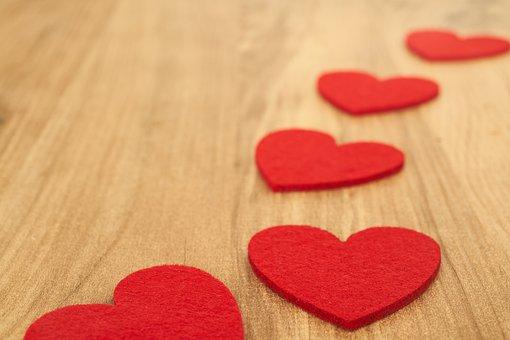 Heart, Table, Red, Track, Figure, Love, Romantic, Art