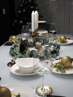 Dining Table, Christmas, The Ceremony, Food, Holiday