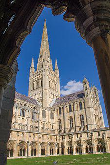 Cathedral, Norwich, Tower, Cloister, Architecture