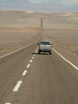 Chile, High North, Atacama Desert, Traffic, Road