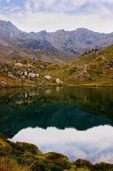 Landscape, Mountain, Lake, Andorra, Tristaina, Summer