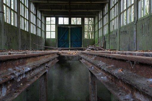 Urbex, Holland, Train Track, Old, Netherlands, Building