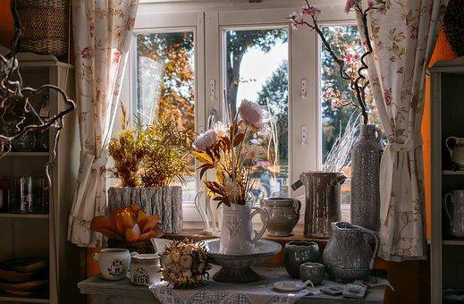 Window, Light, Vases, Room, Summer
