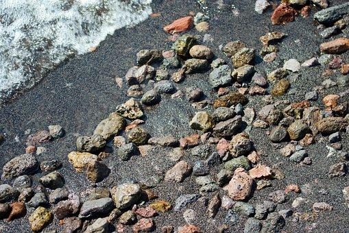 Yellowstone Black Sand, Sand, Gravel, Black, Volcanic