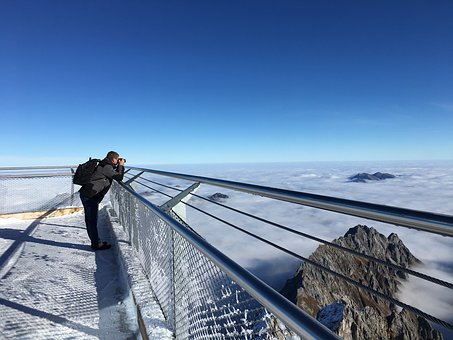 Zugspitze, Photographer, Above The Clouds, Mountains