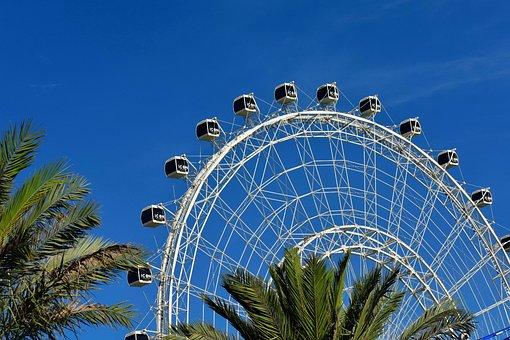 Amusement, Architecture, Attraction, Big Wheel