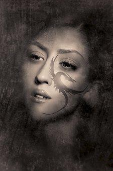 Book Cover, Portrait, Girl, Pretty, Sensual, Sepia